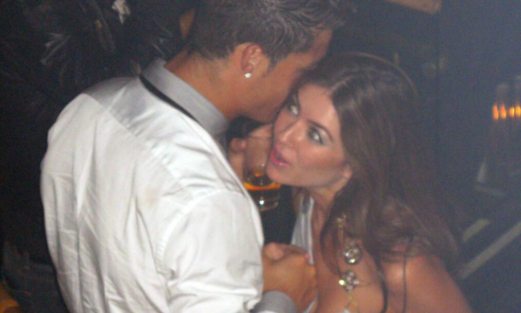 <strong>MØTE:</strong> Cristiano Ronaldo og Kathryn Mayorga møttes på en VIP-avdeling i Las Vegas i 2009, noe dette bildet viser. Mayorga hevder møtet utviklet seg til et mareritt senere på natten. Foto: NTB Scanpix