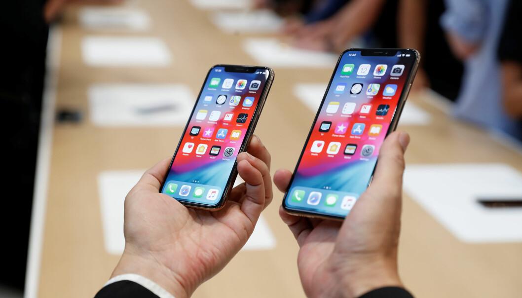 <strong>FERSKE EPLETELEFONER:</strong> Apples nye iPhone Xs og Xs Mac er nå i butikkene. Nå har samtidig barnesykdommene begynt å melde sin ankomst. Foto: Stephen Lam/Reuters/NTB Scanpix