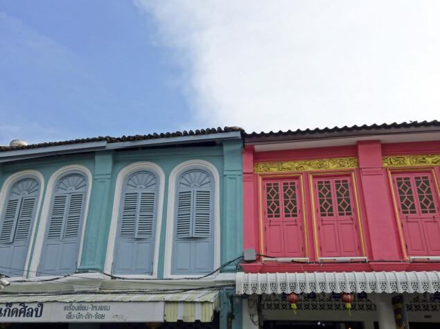 Gamlebyen i Phuket Town har en fargerik kolonistil.