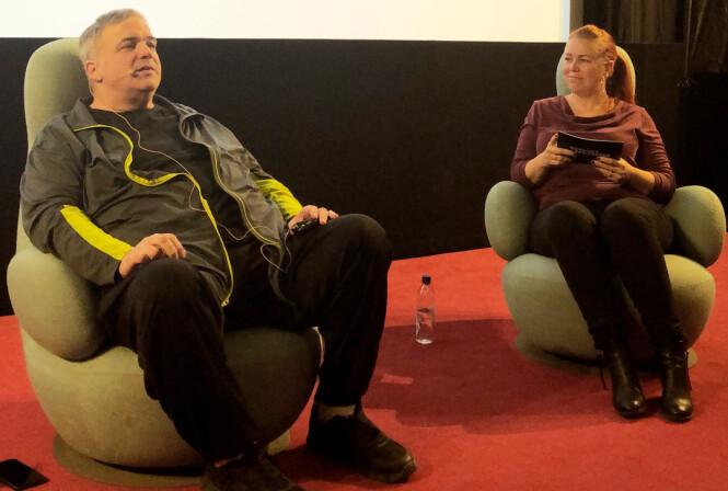 I OSLO: Shawn Rech i samtale med Cecilie Asker fra Aftenposten under Nordiske Seriedager i Oslo i slutten av September. FOTO: KK