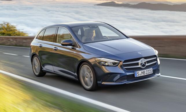 PÅ VEIEN: Om bare få måneder er den splitter nye B-klassen - tredje generasjon - i butikkene. Foto: Daimler AG