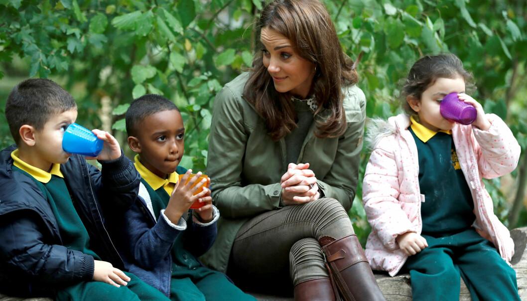 ENGASJERT: Kate tok del i en rekke samtaler med barna. Foto: NTB Scanpix