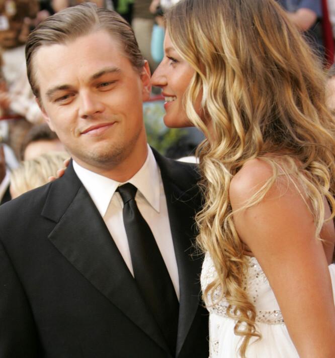 - LÆRTE MYE: Leonardo DiCaprio og Gisele Bündchen var et yndet objekt i pressen da de to var kjærester. Duoen gikk hver til sitt i 2005. Her på Oscar-utdelingen i februar det året. Foto: NTB Scanpix