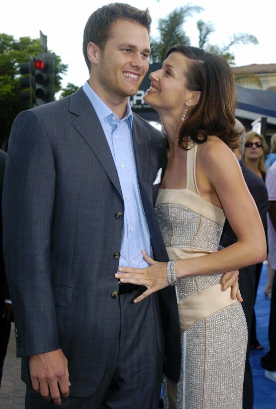 VAR KJÆRESTER: Tom Brady og Bridget Moynahan fikk en sønn etter at de hadde gått fra hverandre. Her er de to i juli 2004. Foto: NTB Scanpix