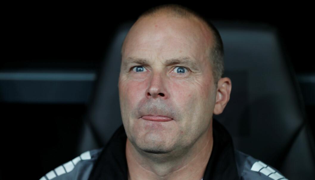 <strong>ROLIG:</strong> Sarpsborg-trener Geir Bakke. Foto: REUTERS/Osman Orsal