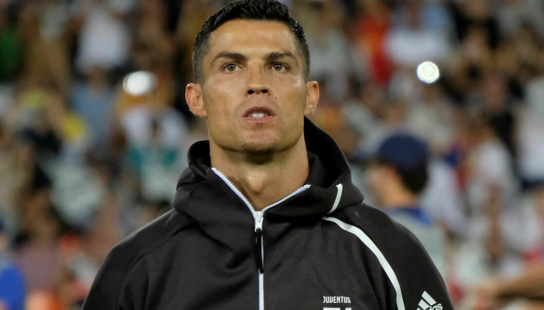 <strong>BENEKTER:</strong> Cristiano Ronaldo avviser Kathryn Mayorgas anklager om voldtekt fra 2009. Foto: NTB Scanpix