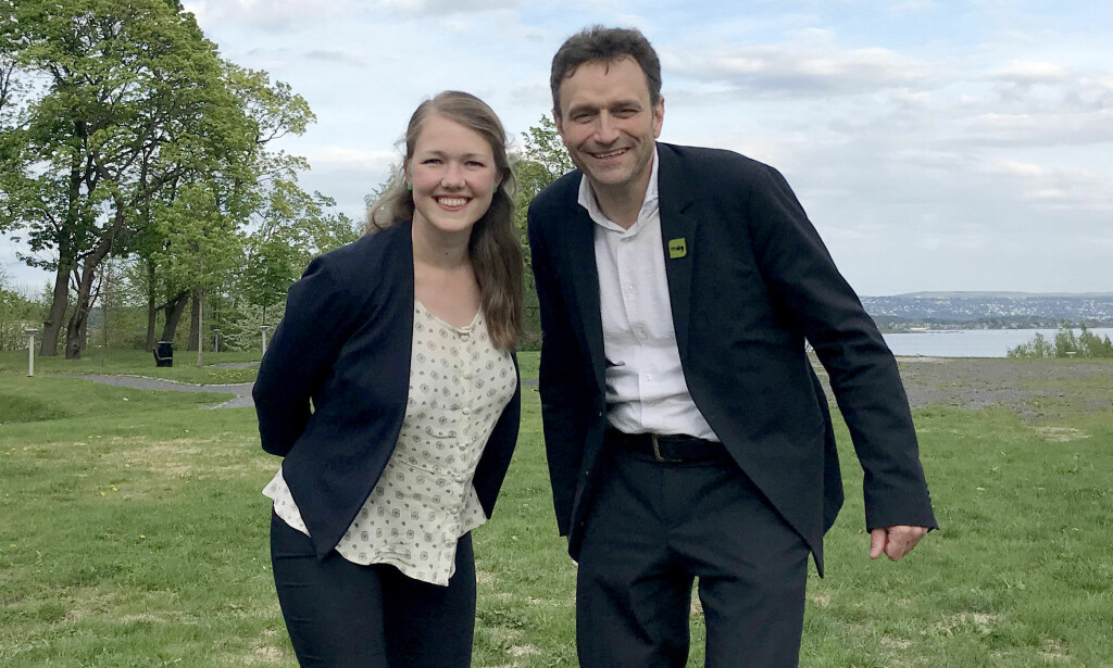 SKAL BLI EN: Une Bastholm og Arild Hermstad blir de siste nasjonale talspersonene i Miljøpartiet De Grønne. Fra 2020 skal MDG få én partileder som andre partier. Foto: Mats Rønning / NTB Scanpix