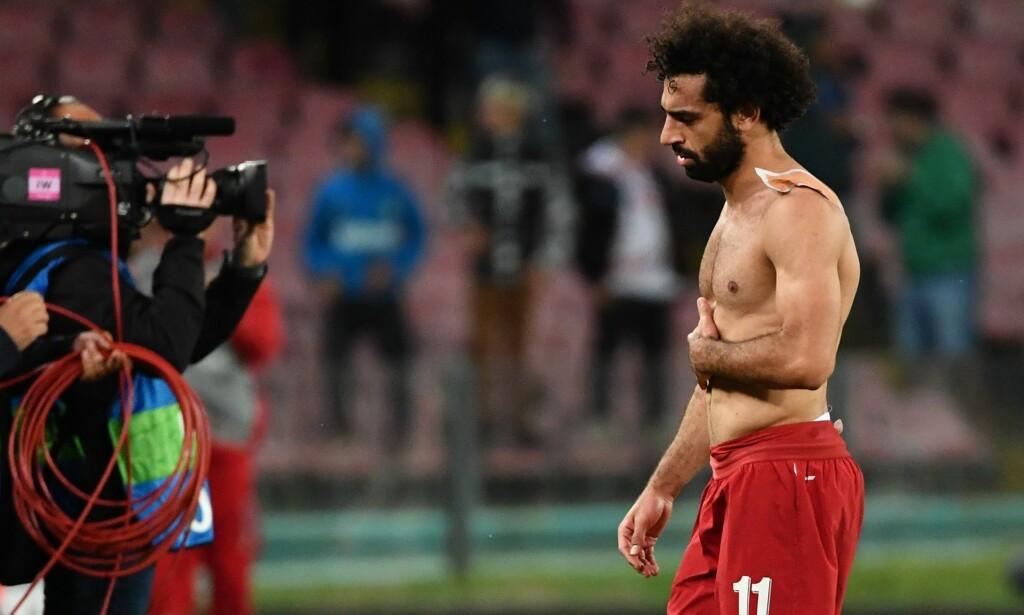 UNDER PARI: Mohamed Salah har ikke vært like toneangivende denne sesongen. Foto: Alberto PIZZOLI / AFP / NTB Scanpix