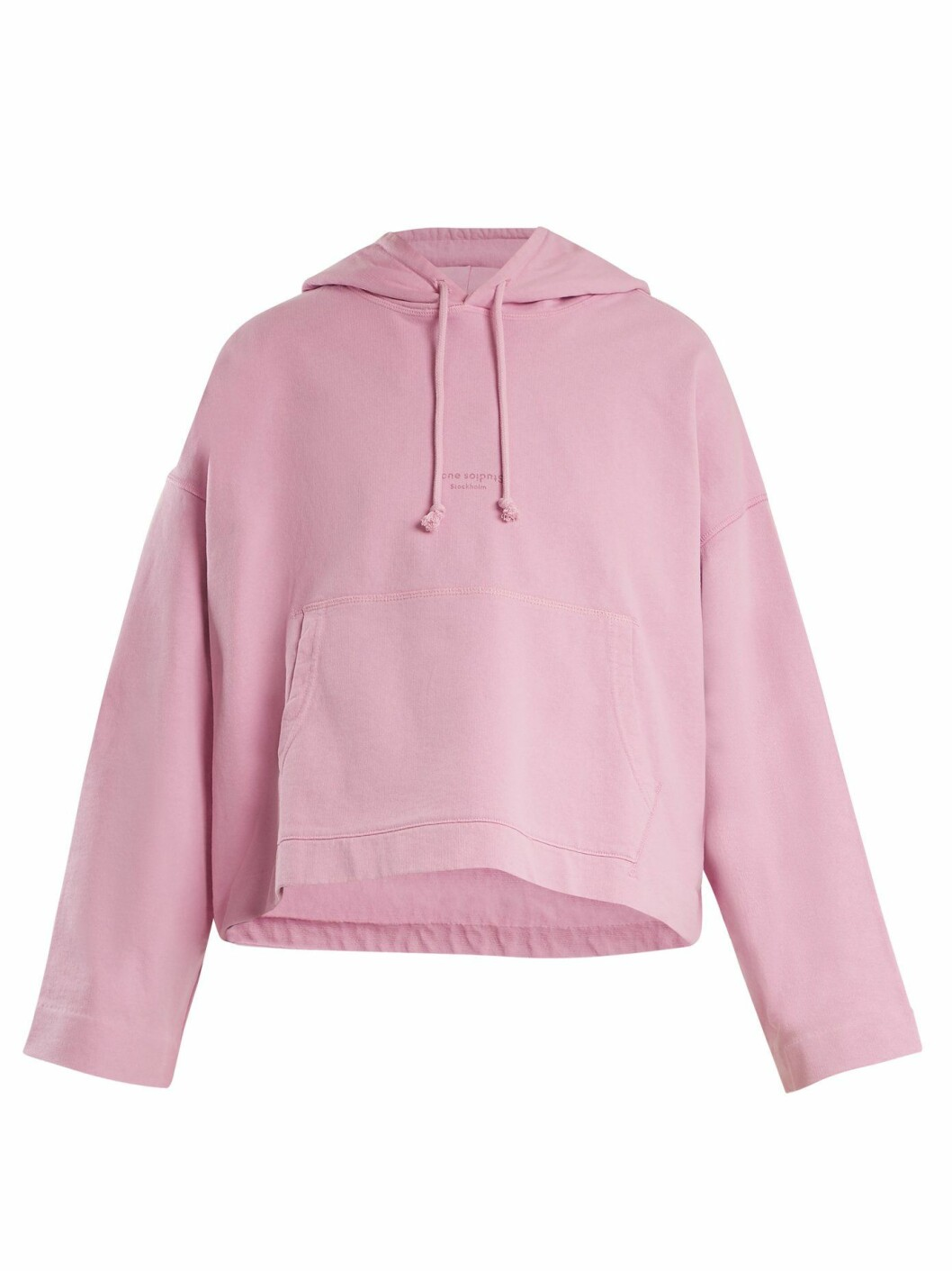 Hettegenser fra Acne Studios  1890,-  https://www.matchesfashion.com/intl/products/Acne-Studios-Joghy-cotton-cropped-hooded-sweatshirt--1186526