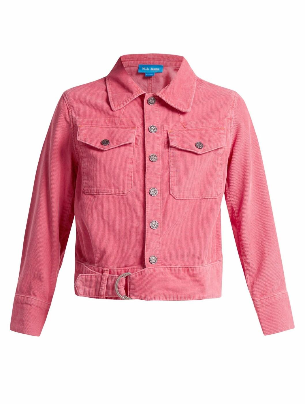 Jakke fra M.i.H Jeans  2170,-  https://www.matchesfashion.com/intl/products/M-i-h-Jeans-Paradise-cropped-corduroy-jacket-1208700