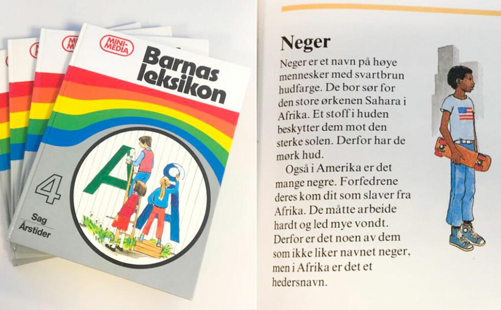 <strong>«NEGER»:</strong> Mye rart har vært akseptert gjennom tidene. På 80-tallet var det dette noe av det man lærte barna. Foto: Camilla Hjelmeseth