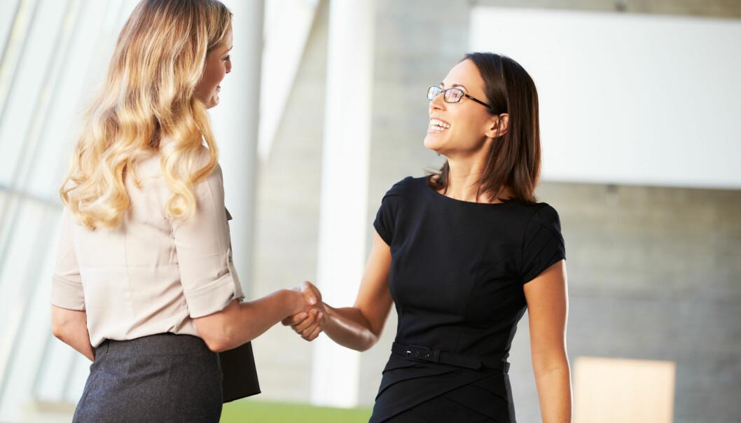 JOBBINTERVJU: På et jobbintervju er førsteinntrykket viktig. Der du møter vedkommende igjen senere blir det raskt lite viktig akkurat hvordan du fremsto på første møte. FOTO: NTB Scanpix