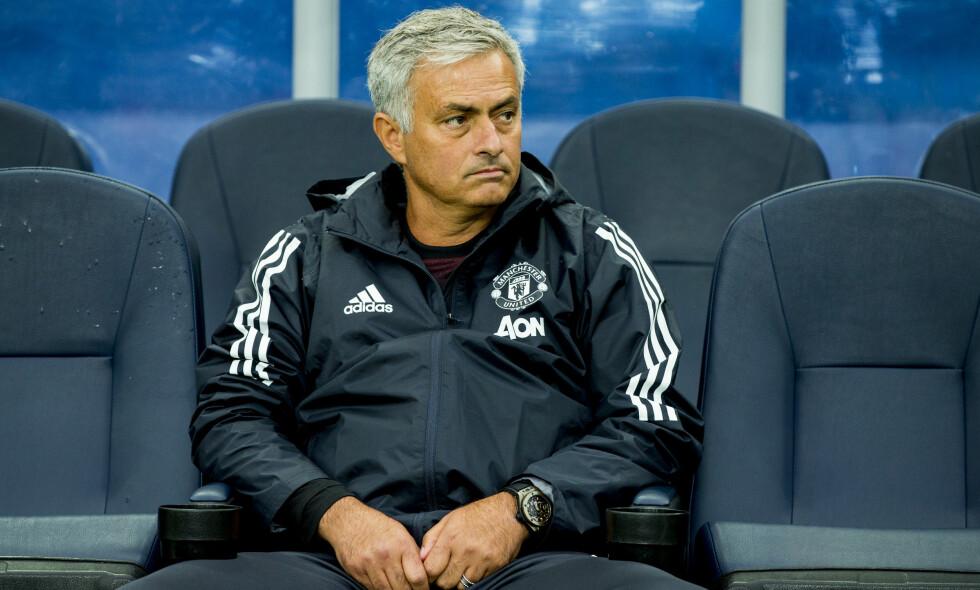 UNDER PRESS: José Mourinhos karriere i Manchester United kan nærme seg slutten. Foto: Vegard Wivestad Grøtt / NTB scanpix
