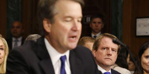 image: Møtet som reddet Kavanaugh: - Vis dem hva du føler!