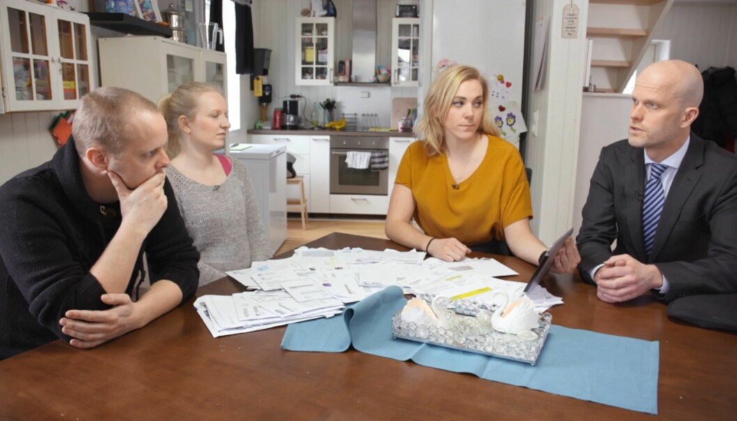 <strong>KONFRONTERT:</strong> Lene Drange og Hallgeir Kvadsheim oppdager raskt at det skjuler seg mer gjeld for paret enn hva de er klar over selv. Det resulterer i en hard konfrontasjon. Foto: TV3