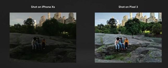 Med Night Sight kan Pixel gjøre mørke scener lyse. Foto: Google