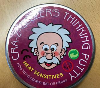 <strong>STOPP:</strong> Salget av Cra-z-Geezers thinking putty er stoppet etter Miljødirektoratets undersøkelse. Foto: Miljødirektoratet