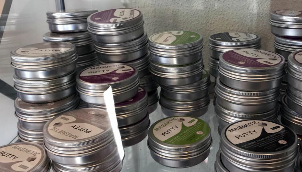<strong>ULVOLIG:</strong> Magnetic Putty er et av produktene som er stoppet av Miljødirektoratet. Foto: Miljødirektoratet