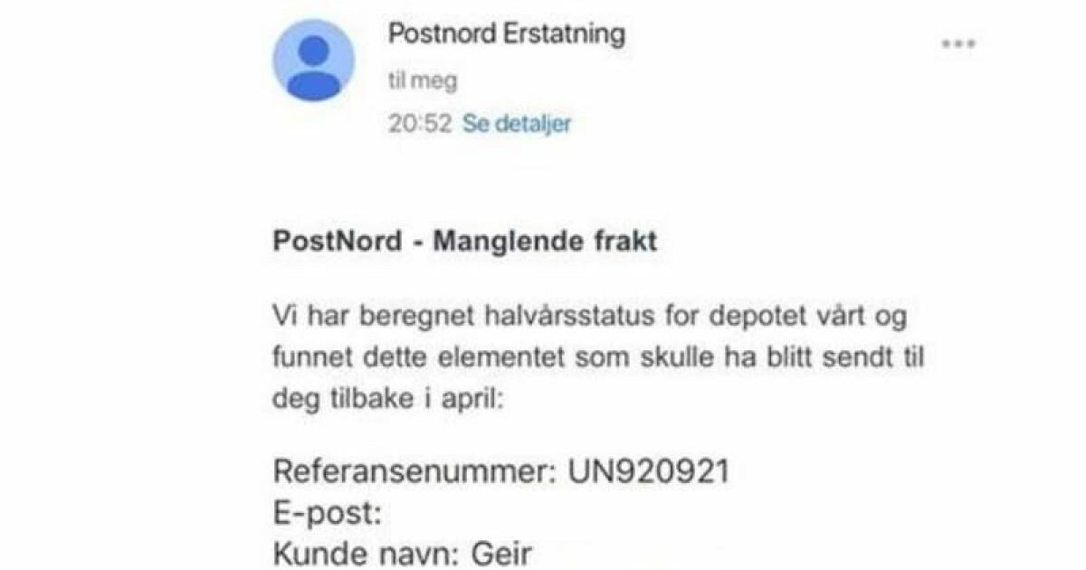 815d13bc Svindel på e-post - Post Nord advarer mot falske e-poster - DinSide