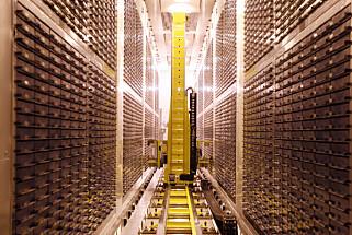 BLODBANK: I 2010 var dette fryselageret av blod- og urinprøver utenfor Manchester, verdens største. Foto: Reuters / NTB Scanpix