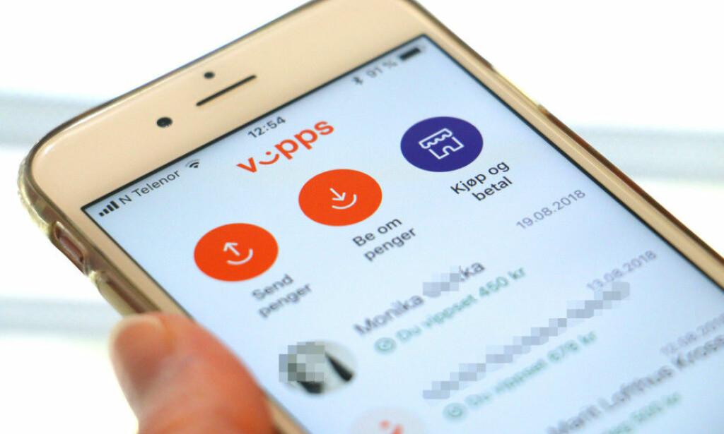 VIPPS-FEIL: Andriod-brukere får ikke brukt Vipps på grunn av trøbbel med teleoperatøren. Foto: Kristin Sørdal