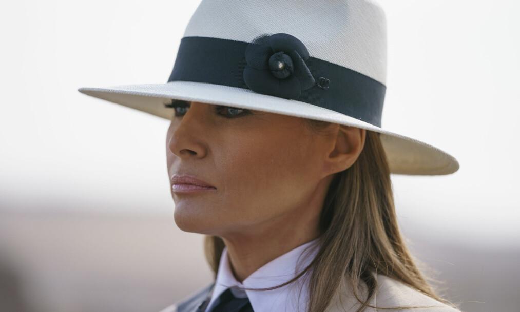 FØLER SEG MOBBET: Førstedame Melania Trump mener hun er verdens mest mobbede person. Foto: NTB Scanpix