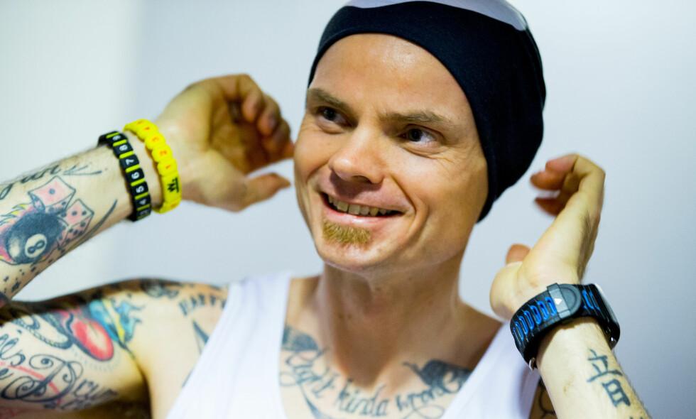 REKORDFORSØK: Bjørn Tore Taranger er på vei mot ny verdensrekord på 24-timer på tredemølle. Foto: Vegard Wivestad Grøtt / NTB scanpix