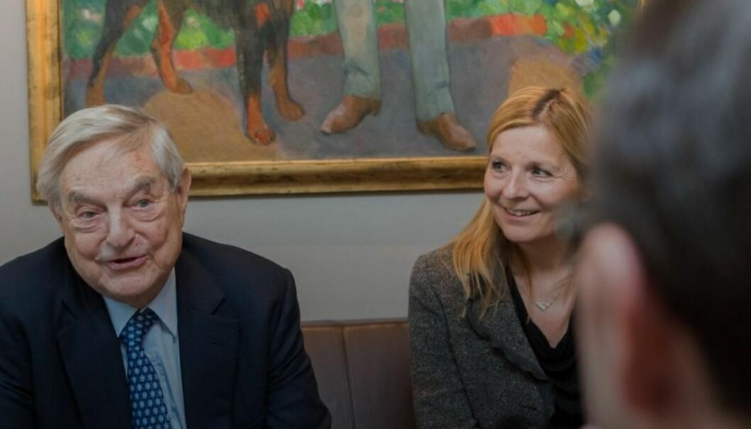 Utenriksminister Espen Barth Eide møtte George Soros i 2013 Foto: Berit Roald / NTB scanpix