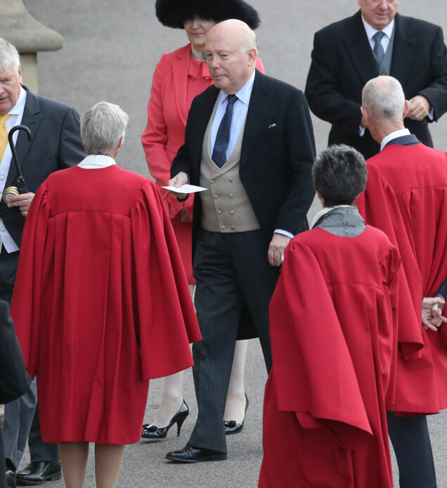 <strong>FAMILIEVENN:</strong> Julian Alexander Kitchener-Fellowes, baron Fellowes av West Stafford, ankom tidlig. Foto: NTB scanpix