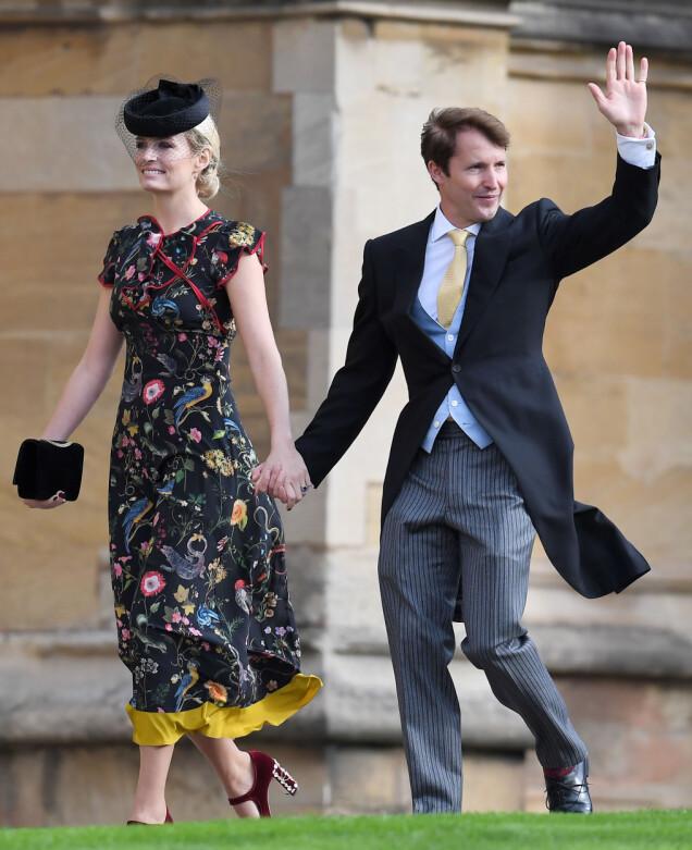 <strong>SANGSTJERNE:</strong> James Blunt ankom sammen med sin kone, Sofia Wellesley. Foto: NTB scanpix
