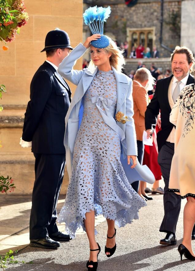 <strong>POPPY DELEVINGNE:</strong> Storesøsteren til Cara vekket på sin side oppsikt i en annen, spesiell hatt. Foto: NTB scanpix