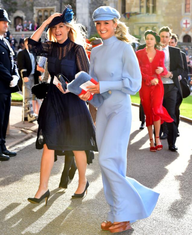 <strong>PRINSENS EKS:</strong> Chelsy Davy (t.v) dukket opp i bryllupet. Hun er ekskjæresten til prins Harry. Foto: NTB scanpix