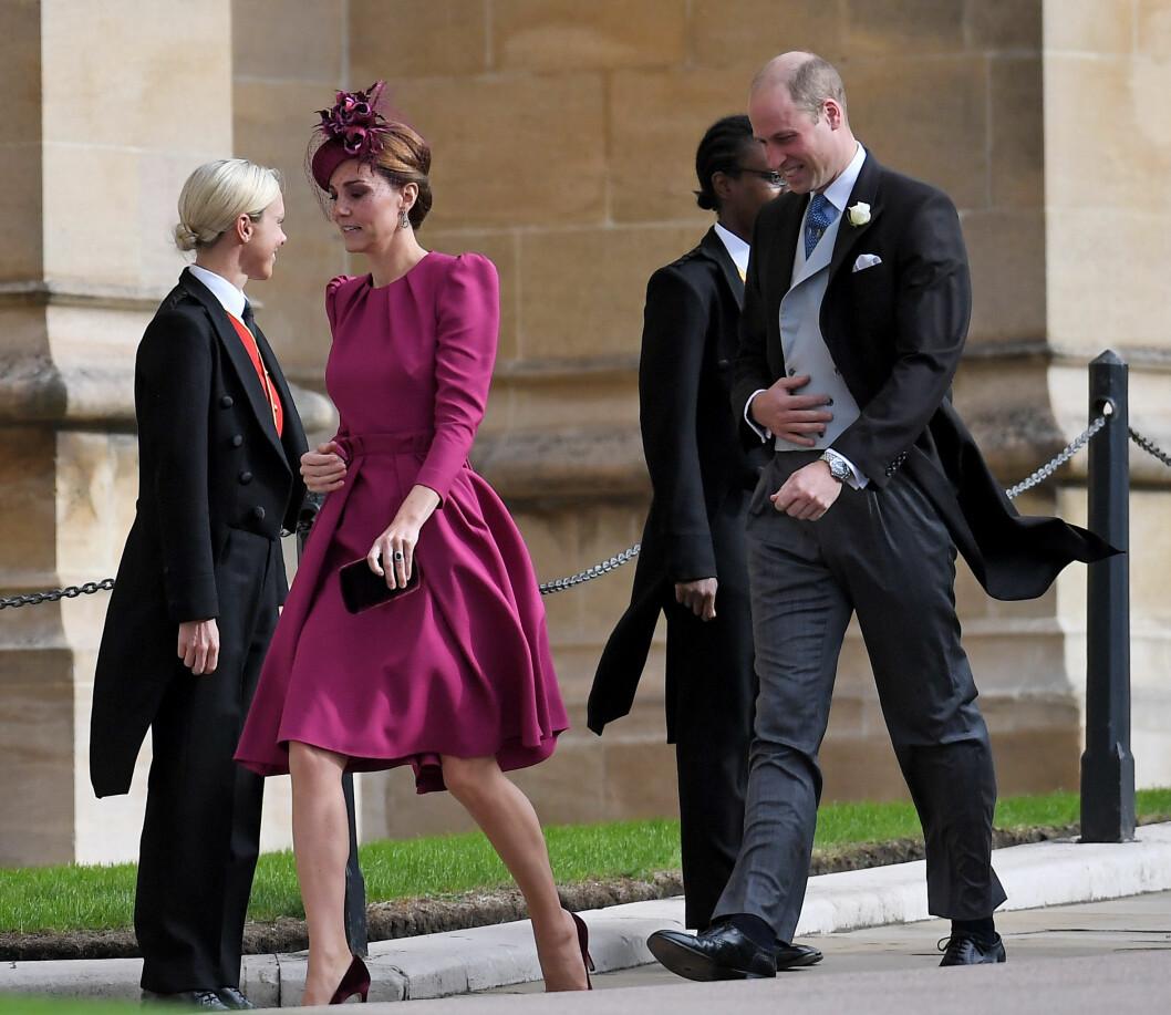 KONGELIG BRYLLUP: Hertuginne Kate og prins William på vei inn. FOTO: NTB Scanpix