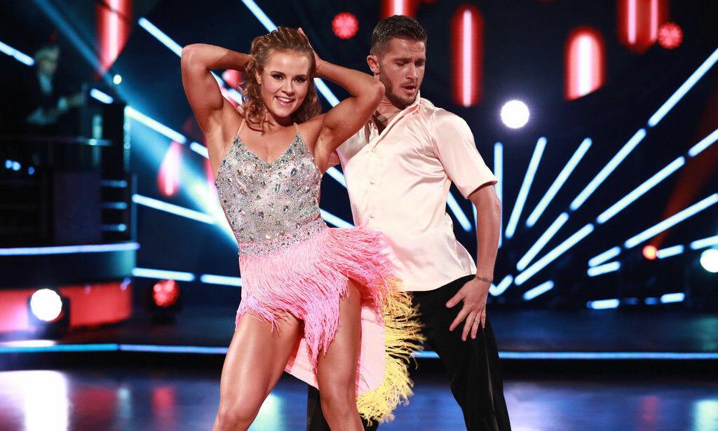 TILBAKE: Lørdag kveld er Helene Olafsen tilbake på «Skal vi danse»-parketten sammen med Jørgen Nilsen. Denne gangen som kjærester. Foto: TV 2