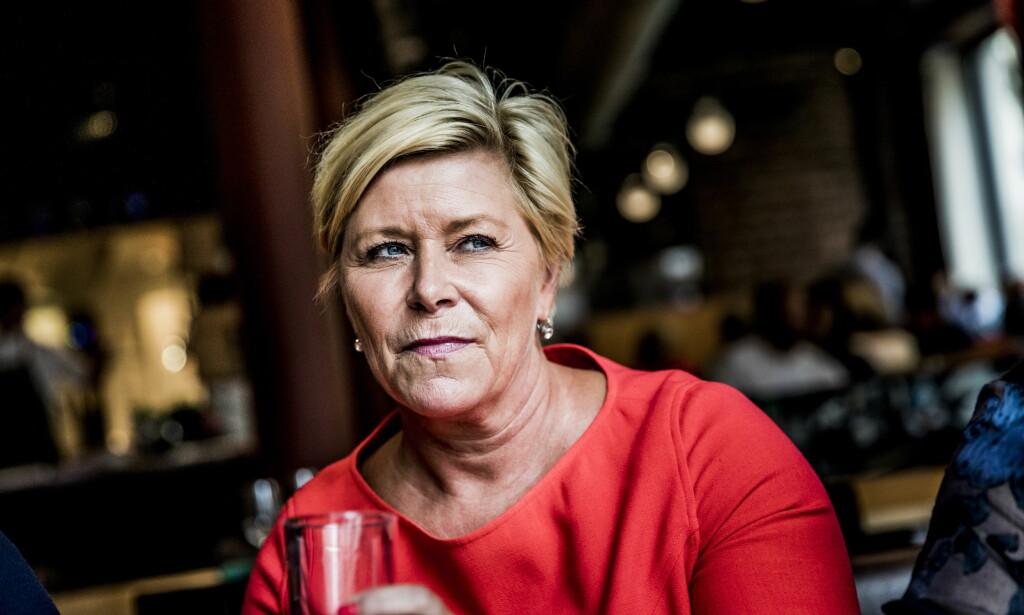 LEIETAKER: Siv Jensen leier hytte av Johan H. Andresen. Foto: Christian Roth Christensen / Dagbladet