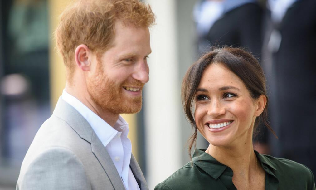 HØSTENS GLADNYHET: I midten av oktober ble det kjent at hertuginne Meghan og prins Harry venter sitt første barn. Terminen er satt til våren 2019. FOTO: NTB Scanpix