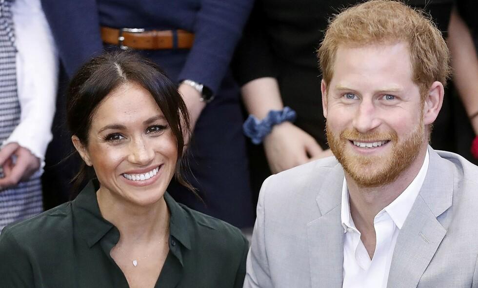 BLIR FORELDRE: Hertuginne Meghan og prins Harry venter sitt første barn. At de slapp nyheten mandag, er langt ifra tilfeldig. Foto: NTB Scanpix