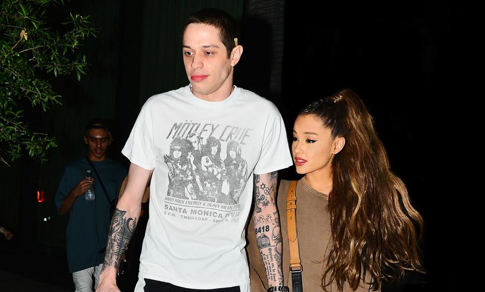 OVER FOR GODT?: Pete Davidson og Ariana Grande gjorde det slutt for en stund siden, men det betyr ikke at de nødvendigvis finner tilbake til hverandre. Foto: Splash News / NTB scanpix