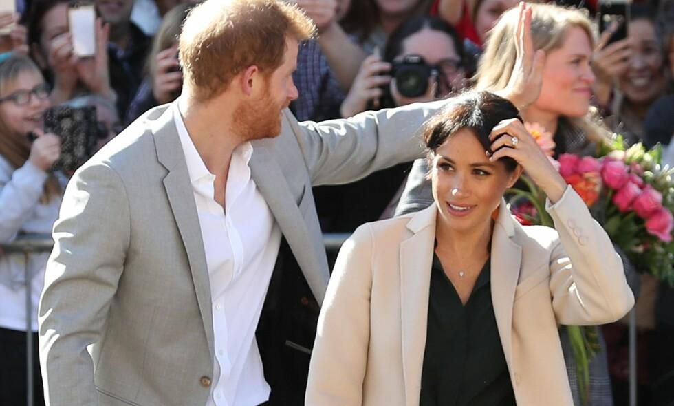 BLIR FORELDRE: Prins Harry og hertuginne Meghan venter sitt første barn sammen. Hva slags tittel det kommende barnet får, strides de lærde om. Foto: NTB scanpix