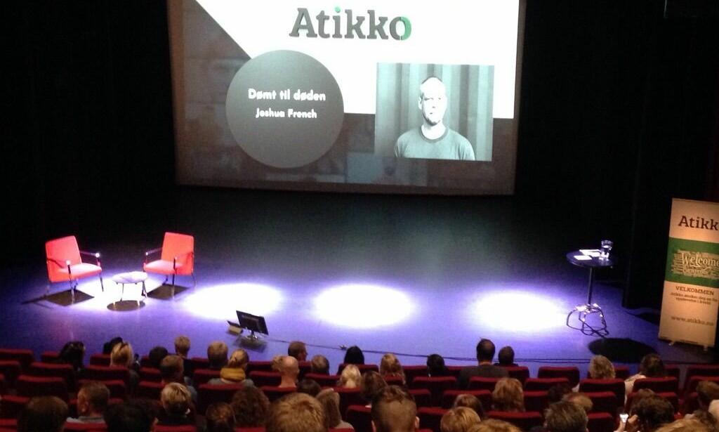 FULLT: Nøtterøy kulturhus er utsolgt til Joshua Frenchs foredrag. Foto: Øystein Andersen / Dagbladet