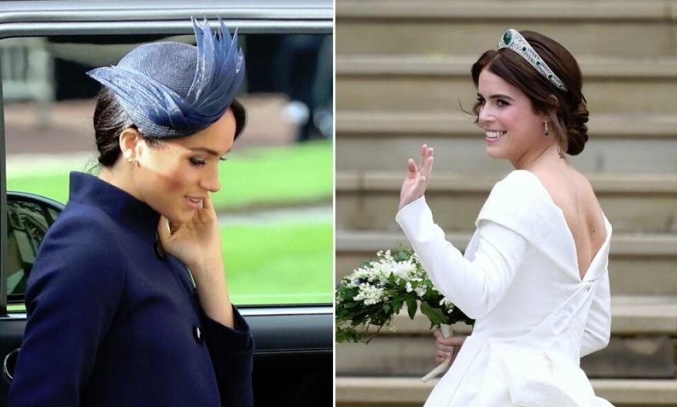 BABYNYHET: Nyheten om at hertuginne Meghan venter barn kom kort tid etter prinsesse Eugenies bryllup. Foto: NTB Scanpix