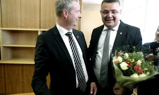 STATSRÅD: Kjell-Børge Freiberg fikk nøkkelen til Olje- og energidepartementet fra tidligere minister Terje Søviknes i august. Foto: Berit Roald / NTB scanpix