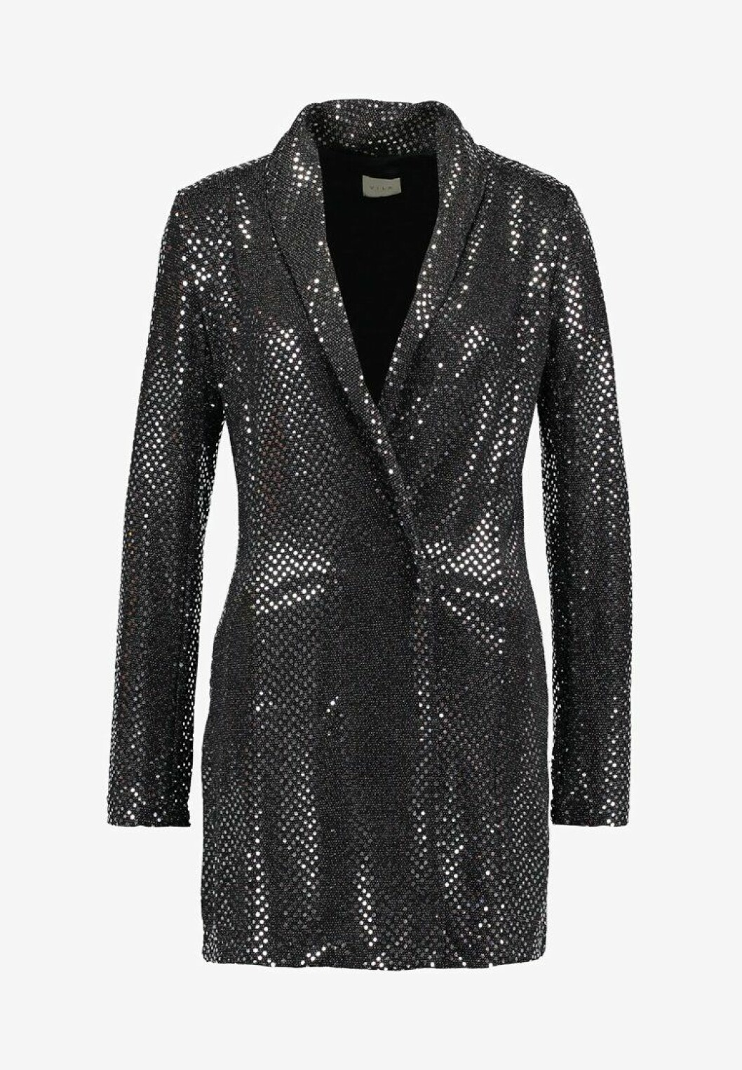 <strong>Kjole fra Vila |800,-| https:</strong>//www.zalando.no/vila-vinightlife-blazer-dress-cocktailkjole-silver-v1021c19c-d11.html