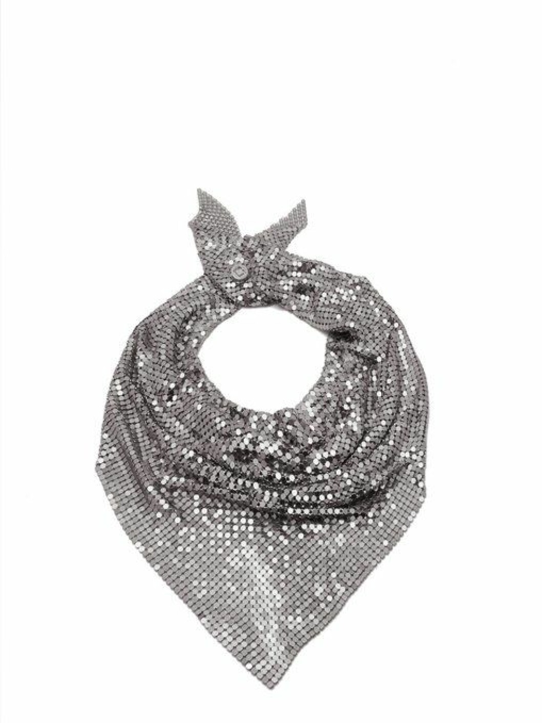 <strong>Skjerf fra Paco Rabanna |2755,-| https:</strong>//www.matchesfashion.com/intl/products/Paco-Rabanne-Chainmail-mesh-scarf-1219282