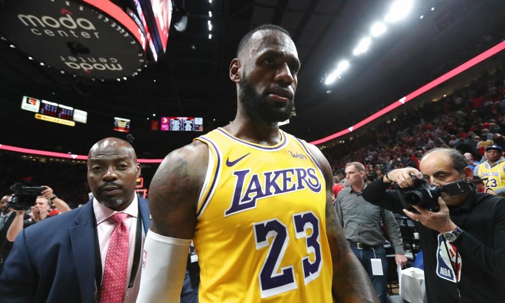 TAPTE I NATT: Lebron James og LA Lakers. Foto: Jaime Valdez-USA TODAY Sports