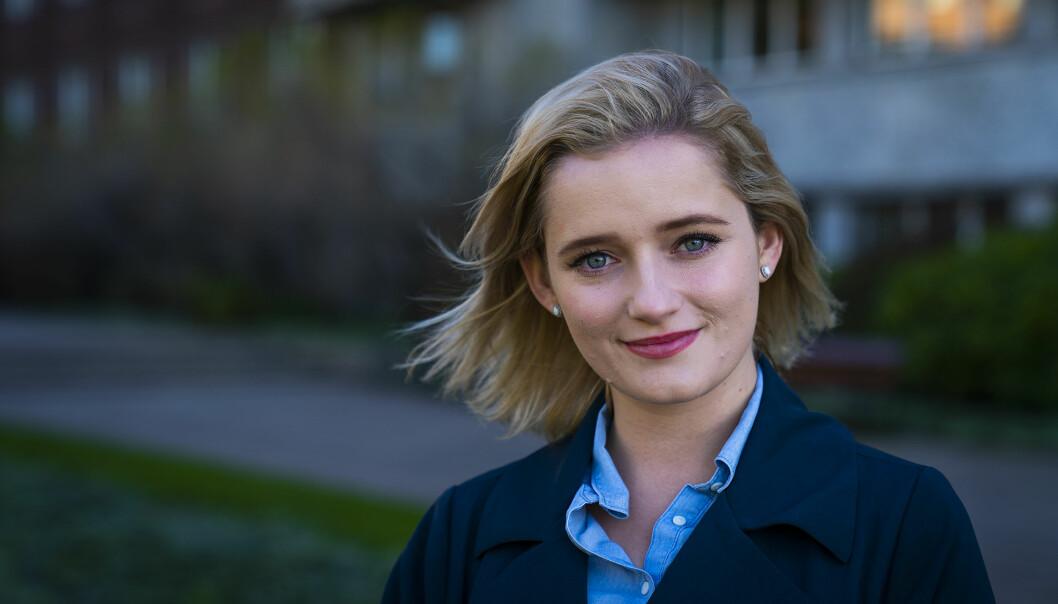<strong>HØYREDAME:</strong> Julia Sandstø har leflet med tanken om å melde overgang til Høyre siden hun var 17. I august i år var tiden inne. Foto: John T. Pedersen / Dagbladet