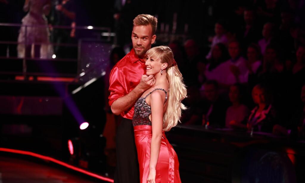 MÅTTE I DUELL: Morten Hegseth og Mai måtte danse en siste gang for å bevare plassen sin og få være med til topp fem. Foto: Thomas Risæter / TV 2, NTB scanpix