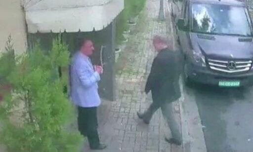 image: Hevder at Khashoggi skal ha blitt båret ut i et opprullet teppe