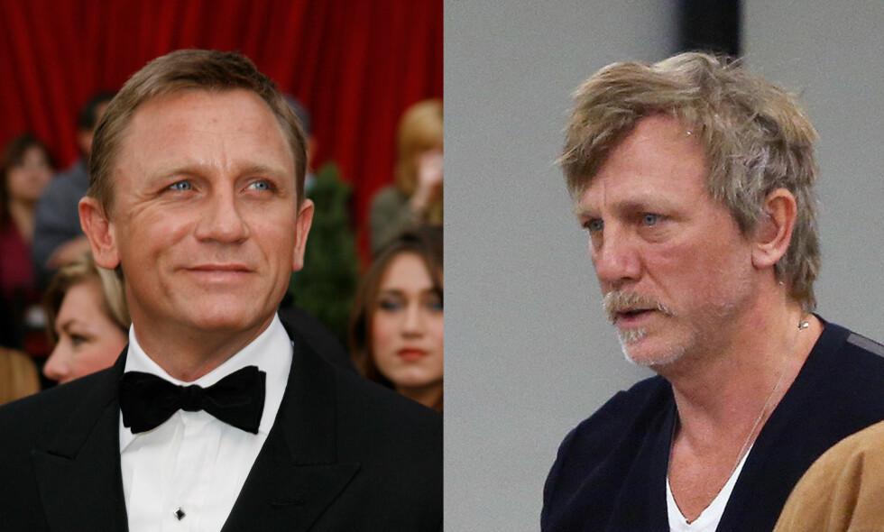 UGJENKJENNELIG: I høst fikk skuespiller Daniel Craig og kona sitt første barn sammen, en liten jente hvis navn foreløpig ikke er kjent. Det ser ut til at farskapet har vært vanskelig for skuespilleren. Se flere bilder nede i saken! Foto: Splash News / NTB scanpix