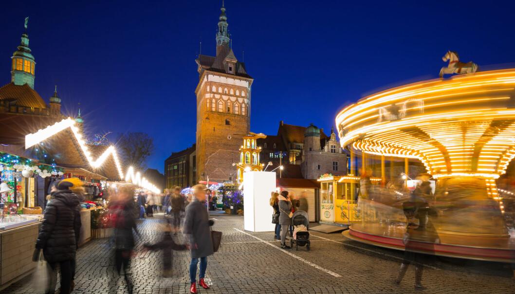 <strong>POPULÆRE POLEN:</strong> Gdansk i Polen er en av de mest attraktive storbydestinasjonene denne høsten, ifølge Finn.no. Bildet er fra det tradisjonelle julemarkedet i gamlebyen. Foto: Shutterstock/NTB Scanpix.